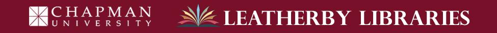Chapman University Leatherby Library